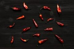 Poivre de /poivron rouge sec Photos stock