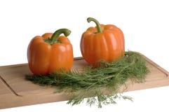 Poivre et fenouil d'orange douce Image libre de droits