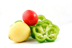 Poivre et tomate Image stock