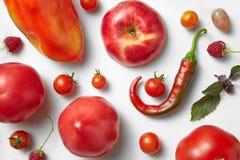 Poivre et tomate de piment rouge images libres de droits