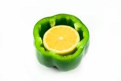 poivre intérieur de citron Images stock