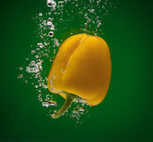Poivre jaune Photo libre de droits