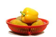 Poivre jaune Photographie stock libre de droits