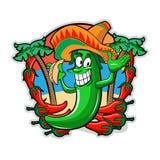 Poivre mexicain avec le Tacos Photographie stock libre de droits