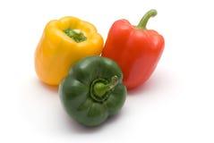 Poivre rouge, vert et jaune Image libre de droits