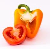 Poivre, tomate Images libres de droits