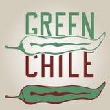 Poivre vert du Chili Images libres de droits