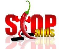 Poivrez et arrêtez les aides Image libre de droits