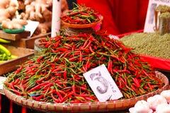 /poivron d'un rouge ardent en Asie Photographie stock libre de droits