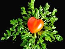 Poivron doux sous forme de coeur Image libre de droits