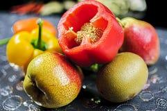 Poivron et fruits Image libre de droits