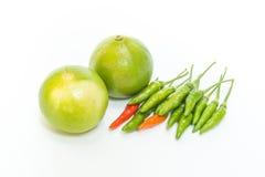 /poivron et limette image stock