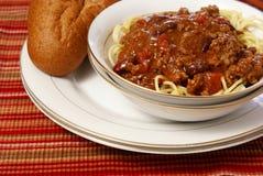 /poivron et spaghetti image stock