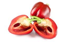 Poivron rouge bulgare d'isolement Photographie stock libre de droits
