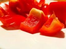 Poivron rouge coupé en tranches photo stock