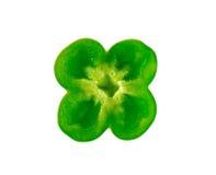 Poivron vert d'isolement sur un fond blanc Photo libre de droits