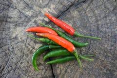 Poivron vert et poivron rouge Image stock
