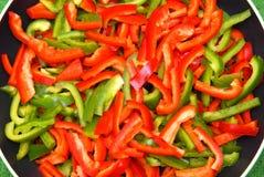 Poivron vert et rouge Photographie stock libre de droits