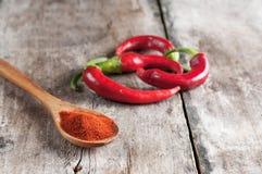 Poivrons de piment d'un rouge ardent Photo libre de droits
