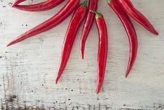 Poivrons de piment d'un rouge ardent Image stock