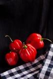 Poivrons de piment rouge Photo libre de droits