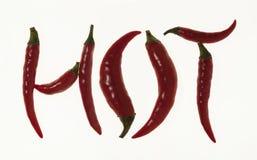Poivrons de piment rouge chauds Photo stock