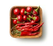 Poivrons de piment rouge ronds Photo stock