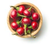 Poivrons de piment rouge ronds Photographie stock