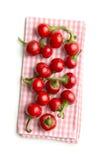 Poivrons de piment rouge ronds Photos stock