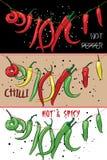 Poivrons de piments chauds supplémentaires Illustration de vecteur Photo libre de droits