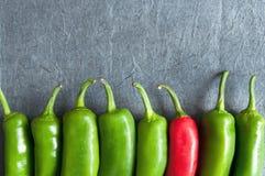 Poivrons de piments rouges Image libre de droits