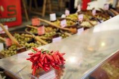 Poivrons de piments rouges Images stock