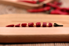 Poivrons de piments secs Image libre de droits
