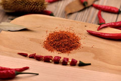 Poivrons de piments secs Photographie stock libre de droits