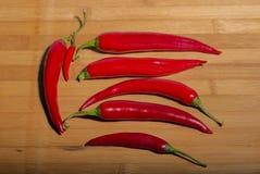 Poivrons de /poivron d'un rouge ardent Photos stock