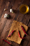 Poivrons de /poivron rouge secs Photos libres de droits