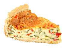 Poivrons de rôti et quiche de fromage image stock