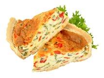 Poivrons de rôti et quiche de fromage image libre de droits