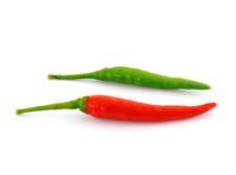 Poivrons de s/poivron chauds rouges et verts Photos libres de droits