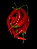 Poivrons de s/poivron rouges Images libres de droits