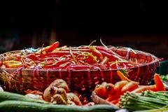 Poivrons de s/poivron rouges Photo stock
