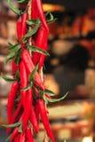 Poivrons frais d'un rouge ardent? Images stock