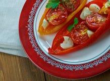 Poivrons rôtis Piedmontese image stock