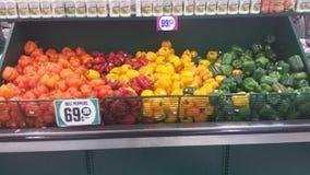 Poivrons, rouge, jaune, orange, verte Images stock