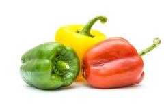 Poivrons, rouge, jaune, orange, verte Image stock