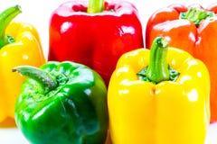 Poivrons, rouge, jaune, orange, verte Photo stock