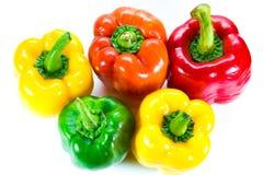 Poivrons, rouge, jaune, orange, verte Photo libre de droits