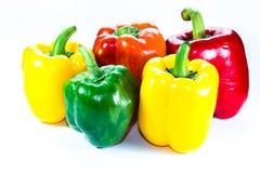 Poivrons, rouge, jaune, orange, verte Photographie stock libre de droits