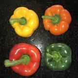 Poivrons, rouge, jaune, orange, verte Image libre de droits