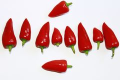 Poivrons rouges images stock